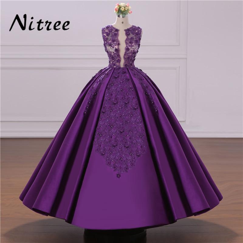 Ihram Kids For Sale Dubai: African Ball Gown Purple Evening Dresses Turkish Arabic