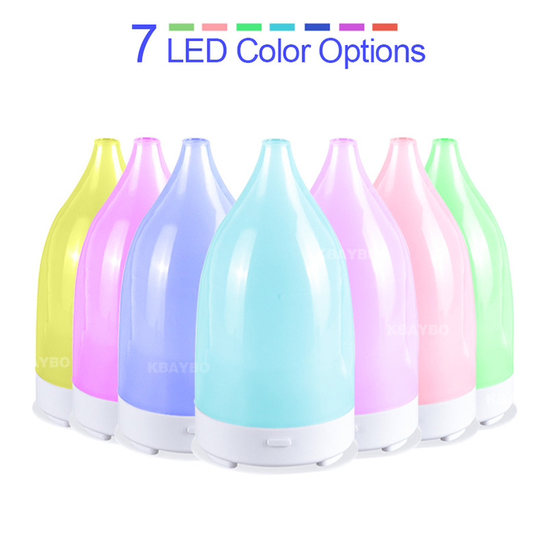 Ultrasonic Air Humidifier Diffuser Mini 7 Colors LED Light USB For Office Car
