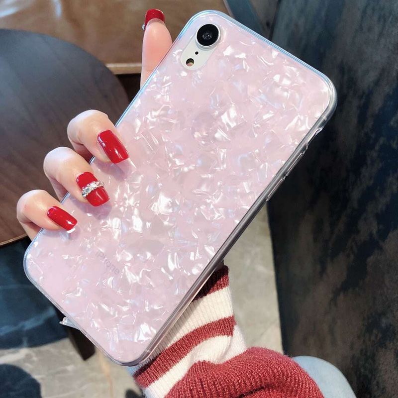 Tfshining Lovely Glitter Conch Pattern Phone Case For iPhone XS Max X XR 6 6s 7 8 Plus Fashion Soft Shell Protective Case Cover (4)