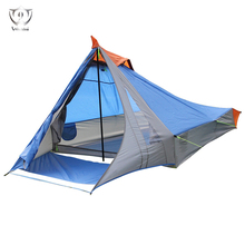Outdoor camping tours, climbing tents, double deck, 3-4 tents, glass poles