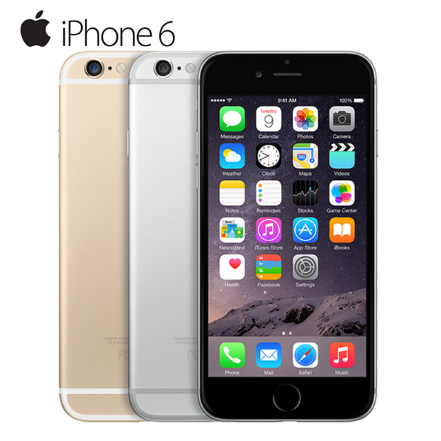 Unlocked Apple IPhone 6 1GB RAM 4.7inch IOS Dual Core 1.4GHz Phone 8.0 MP Camera 3G WCDMA 4G LTE Used 16/64GB/ 128GB ROM