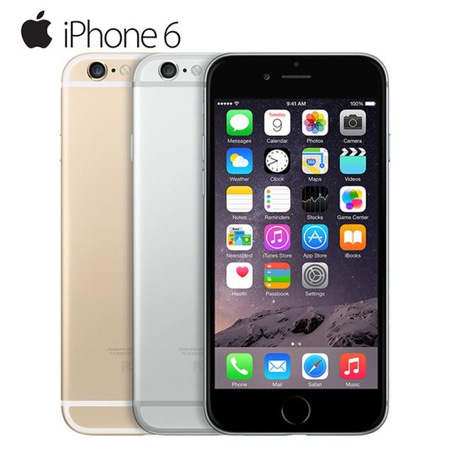 Unlocked Apple iPhone 6 1GB RAM 4.7inch IOS Dual Core 1.4GHz phone 8.0 MP Camera 3G WCDMA 4G LTE