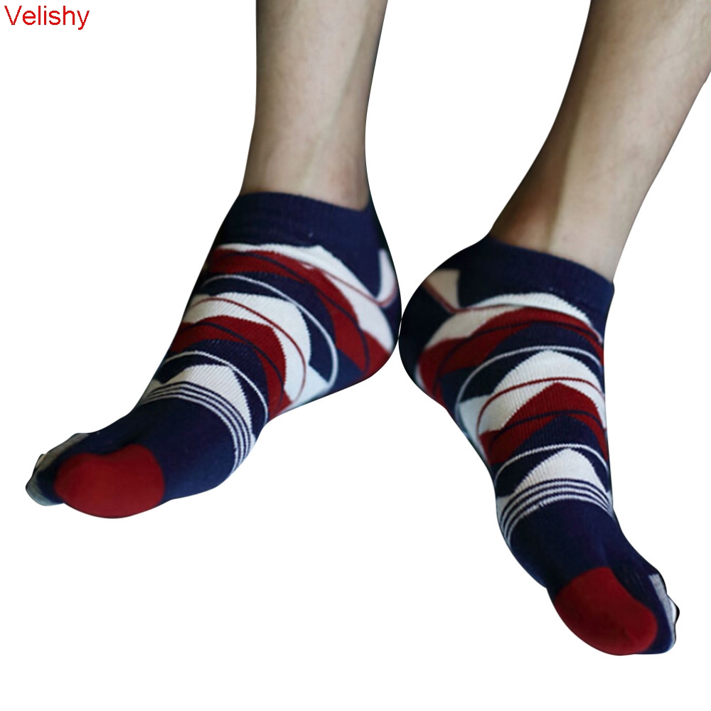 Unisex Men's Women's Socks Cotton Five Finger Socks Toe Socks Men Accessories