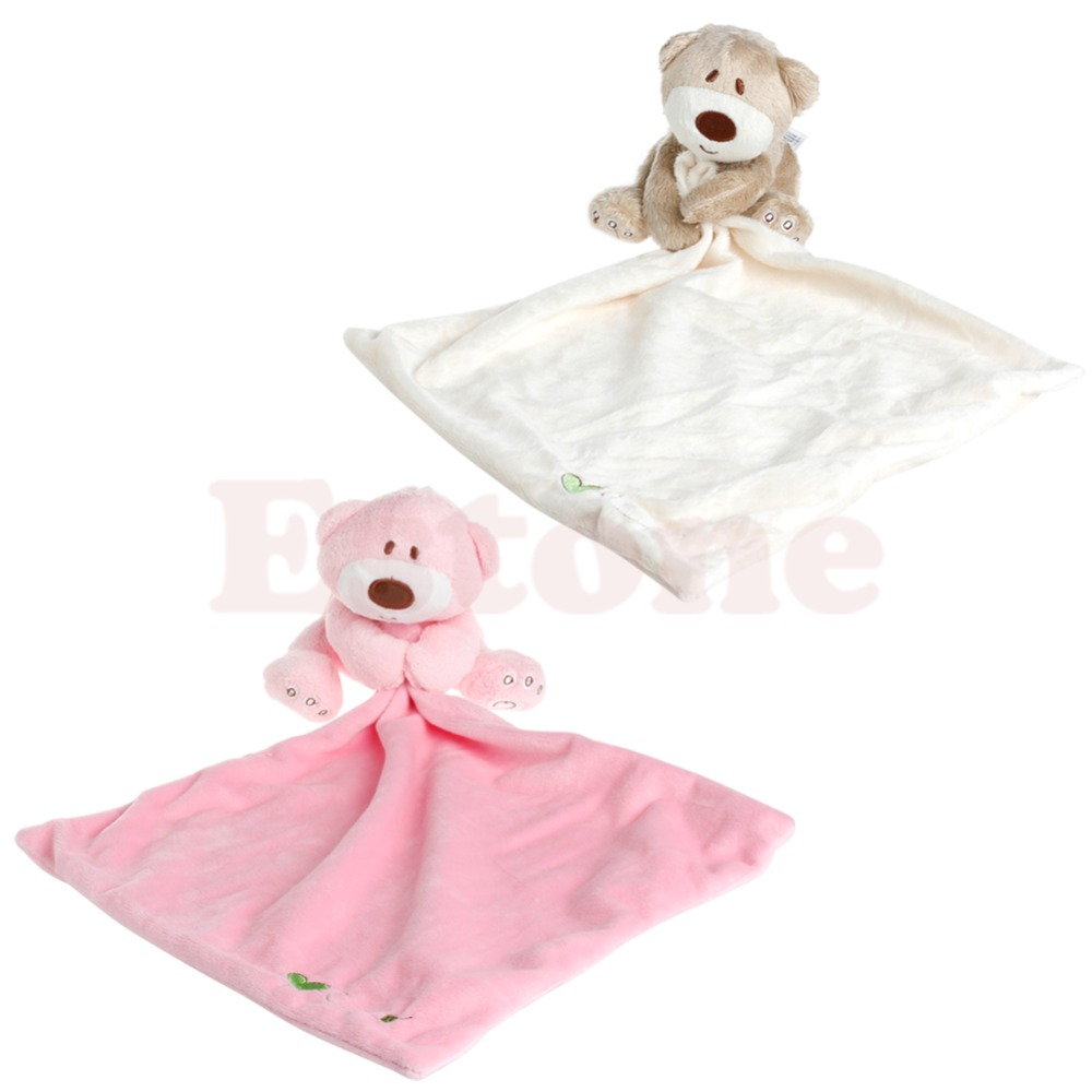 Bear Baby Kids Appease Towel Comforter Plush Stuffed Washable Blanket Soft Smooth Toy