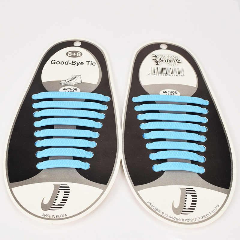 เชือกผูกรองเท้าซิลิโคนขี้เกียจซิลิโคน Shoelaces ลูกไม้ฟรี Shoelaces ยืดหยุ่นเป็นมิตรกับสิ่งแวดล้อมเชือกผูกรองเท้าซิลิโคน T - card