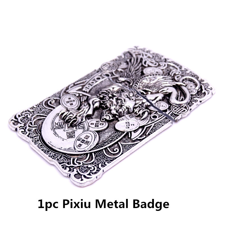 1pc Pixiu Metal Badge DIY Lighter Accessories Replacement For Kerosene Oil Lighter Decor Self-adhesive Lighter Sticker