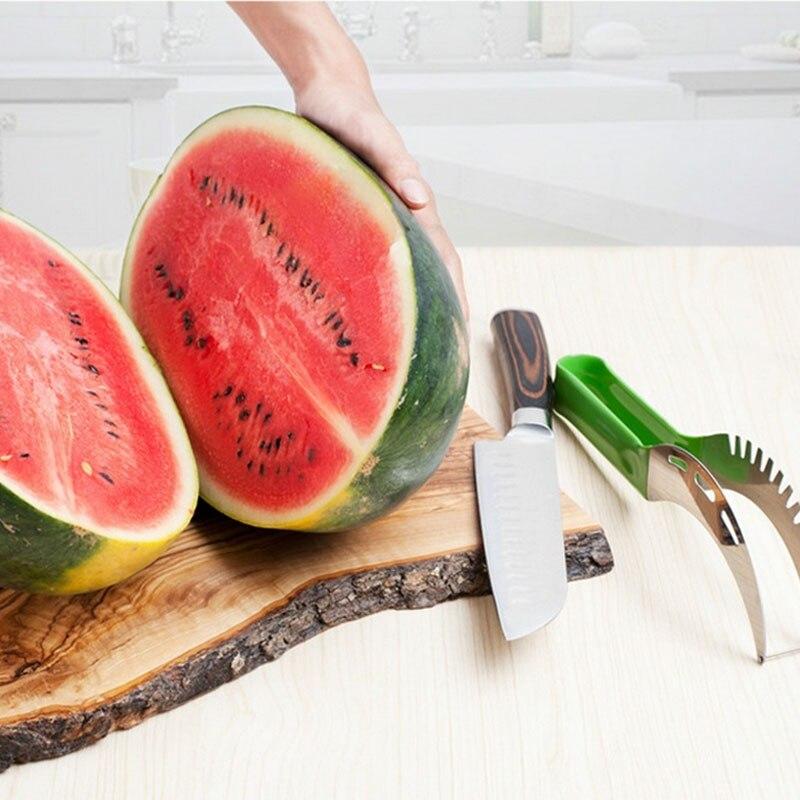 1Pcs Qarpız dilim kəsiciləri meyvə bıçağı Cantaloupe - Mətbəx, yemək otağı və barı - Fotoqrafiya 5