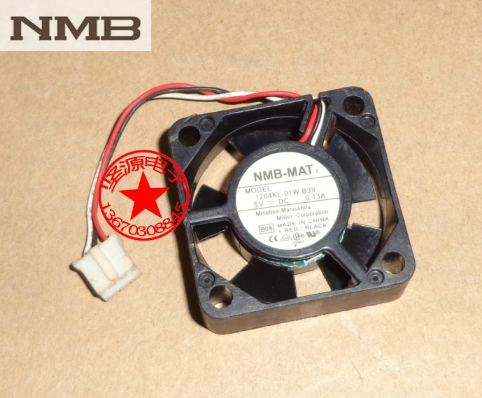 Original NMB 3010 30mm 3 cm 1204KL 01W B39 DC 5 V 0.13A 3 Draht HDD ...