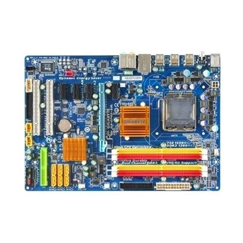 Do Gigabyte GA EP43 S3L oryginalny używany pulpitu płyta główna EP43 S3L P43 LGA 775 DDR2 16G SATA2 USB2.0 ATX w Płyty główne od Komputer i biuro na AliExpress - 11.11_Double 11Singles' Day 1