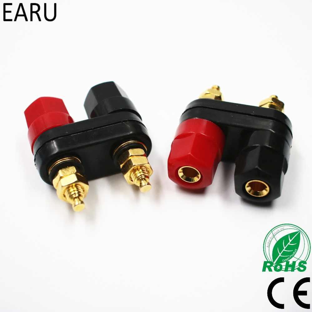 20 pcs Red black hose 4MM Banana Plug connectors for power Binding Post Speaker