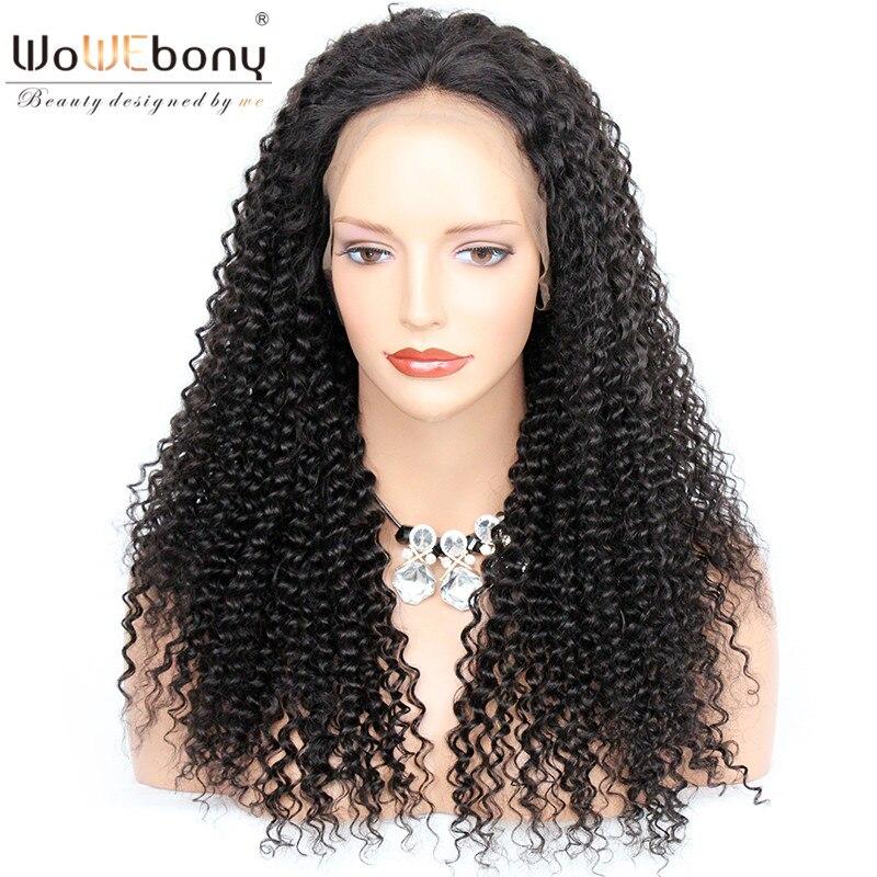 WoWEbony 150% Density Brazilian Virgin Hair Kinky Curly 360 Lace Wigs For Black Women Pre-plucked Hairline [360KC03]