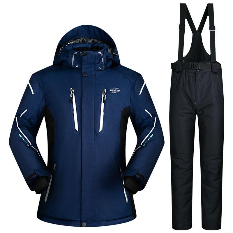 Super chaud imperméable coupe-vent veste de Snowboard et pantalon hiver neige costumes mâle nouveau costume de Ski hommes Ski et Snowboard ensembles