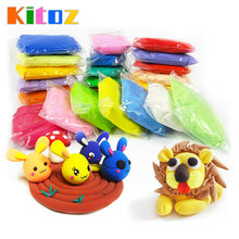 Slime Fluffy Kit Play Dough Light Polymer Air Dry Clay Plasticine Handgum Jumping DIY Foam Playdough Lizun Educational Toy(China)