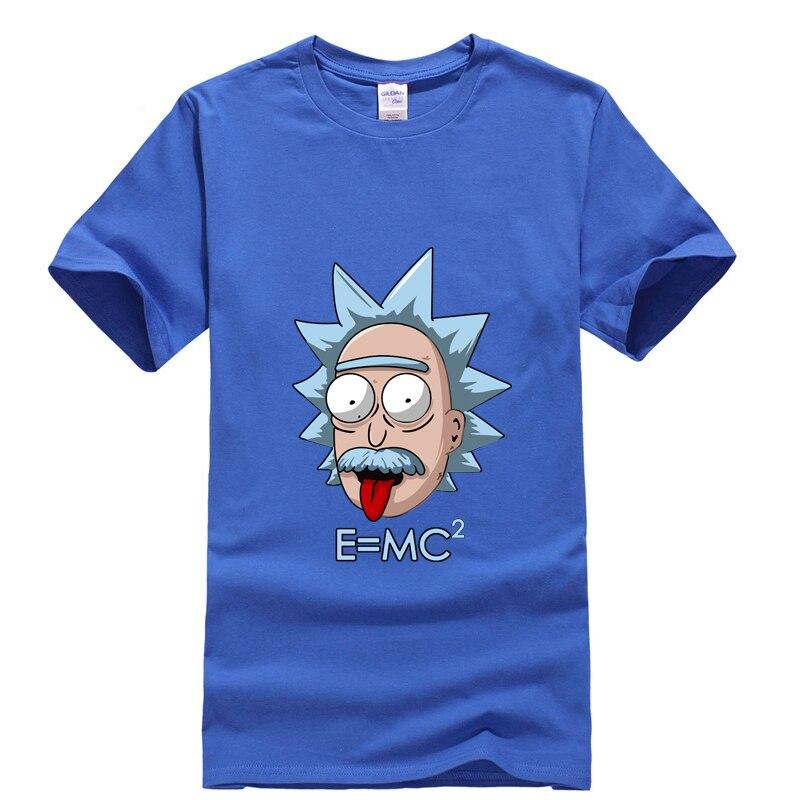 New Summer 100% Cotton Short Sleeve Cartoon Rick Morty Printed Men T Shirt Cool Funny Men Tshirt Casual O-neck Hip Hop T Shirt