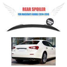 De Fibra De carbono del coche auto posterior del tronco boot lip spoiler wing para Maserati Ghibli $ Number Puertas 2014-2016 JC Estilo