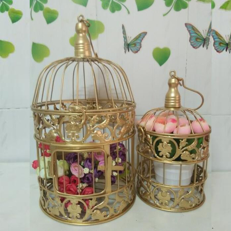 Caioffer gold gaiola decorativa cage oiseau large bird for Cage d oiseau decorative