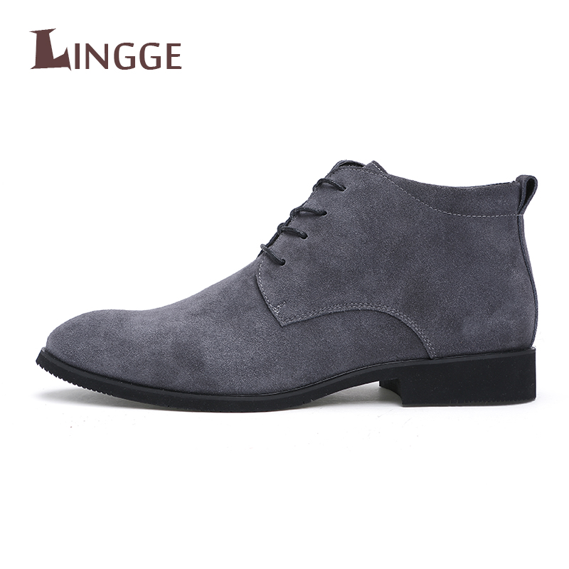 2018 Brand Men Shoes P Leather Men Ankle Boots Lace-Up Casual Top Quality Men Shoes Brit ...