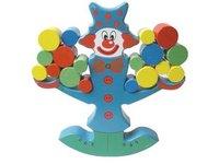 Candice guo! nettes pädagogisches hölzernes spielzeug clown schwebebalken baby spielzeug früherziehung geduld hands-on-training