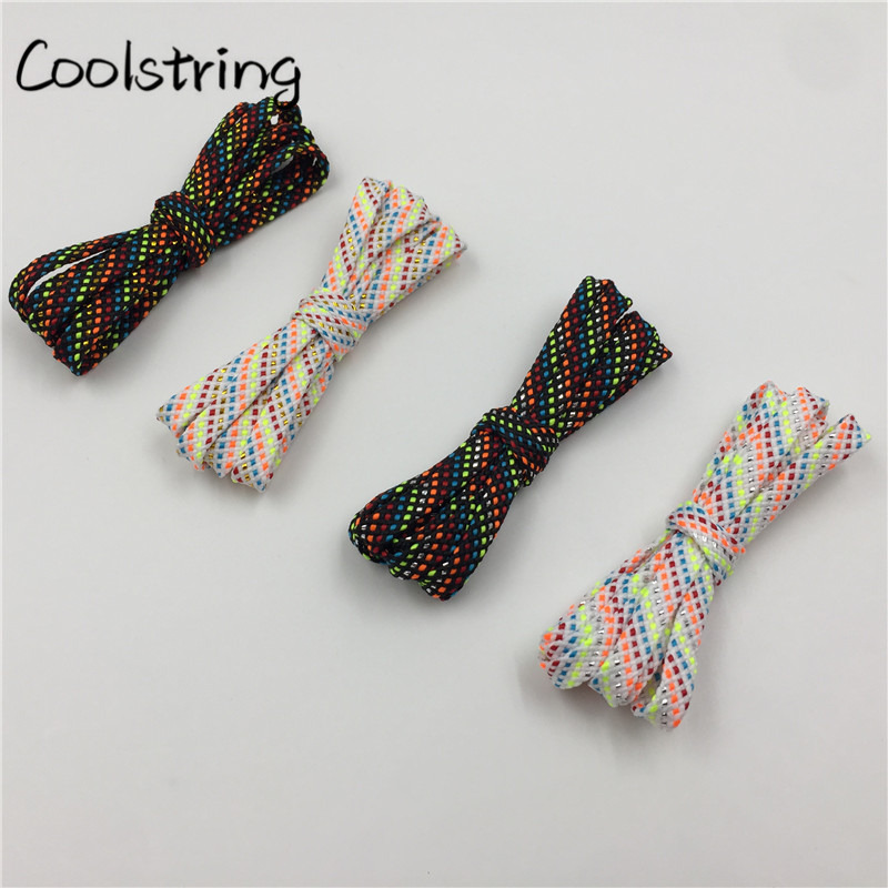 Official Coolstring New Arrival 7mm Flat Glitter Metallic Shoe Strings Laces Novelty Unique Dress Shoelaces For Martin Boots ...