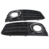 Mayitr 1 Pair Car Fog Light Cover Grill Front Bumper Grille For Audi A4 A4L B8