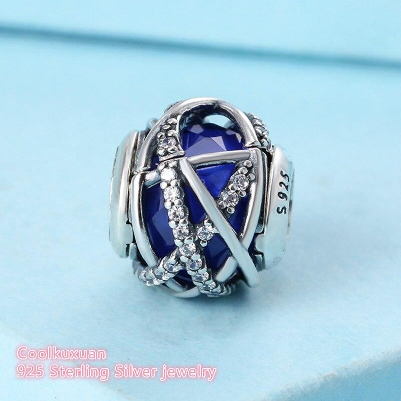 Winter Original 925 Sterling Silver Galaxy Charm, Royal Blue Crystal &  Clear CZ Beads Fit Pandora Charms Bracelet Diy
