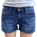 2016 Mulher Sexy Rasgado Buraco Shorts Jeans Ladies'Casual Mid BrandSummer Praia Denim Shorts Jeans Curto Feminino