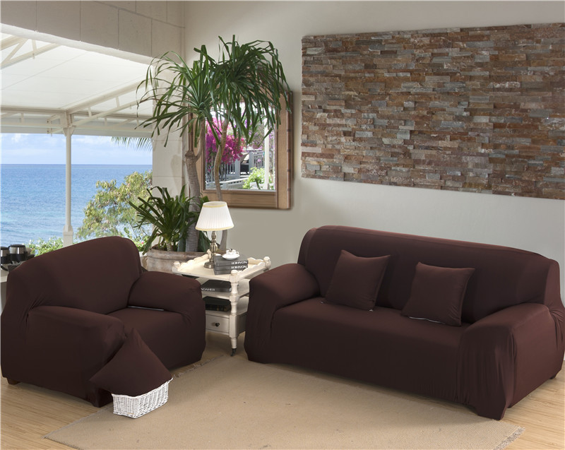 Modern Elastic Stretch Solid Colour Sofa Covers for Living Room Sofa Couch Slipcovers 1 2 3 4 Seater Sectional Sofa Covers in Sofa Cover from Home Garden