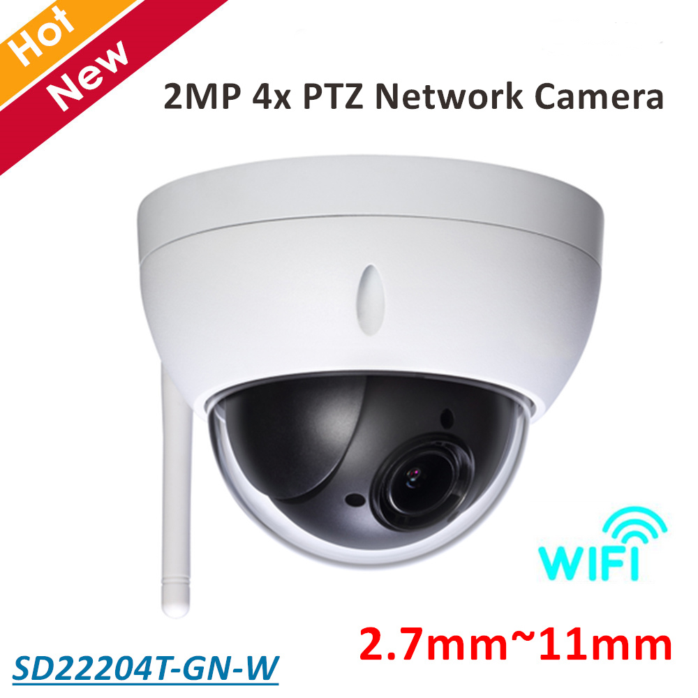 DH PTZ Camera SD22204T-GN-W 2MP 4x PTZ Network Camera 2.7mm-11mm Support Wifi Day/Night for Outdoor ip camera security cam dahua pfb202w water proof wall mount bracket for sd22204t gn sd22204t gn w