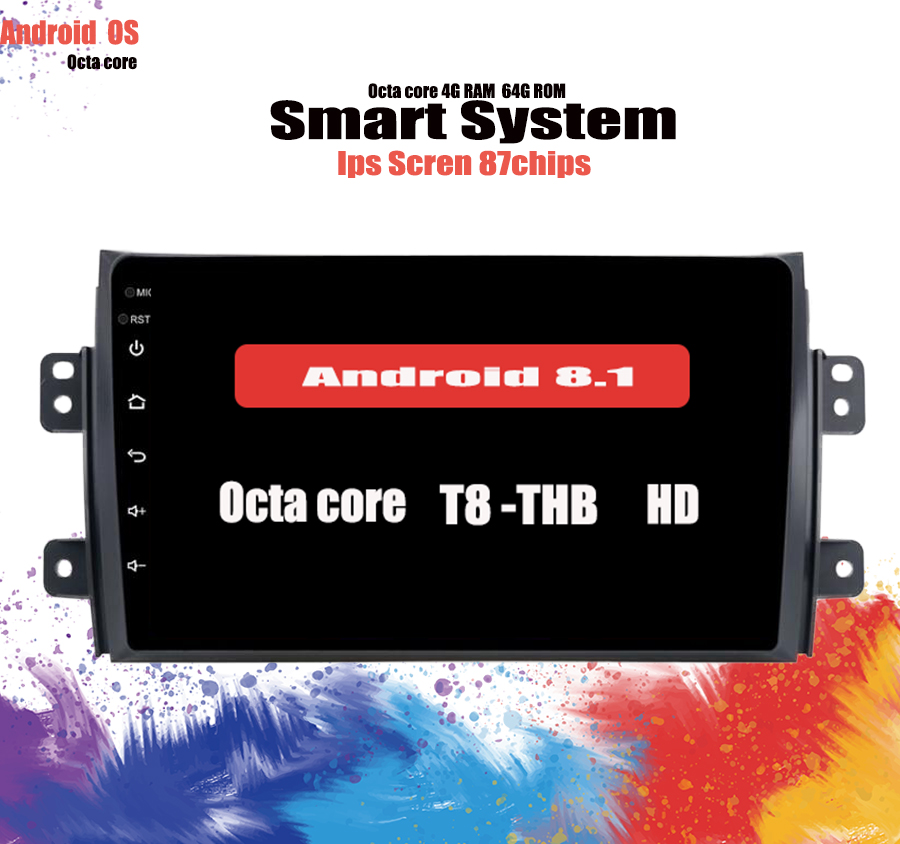 Octa Core 4+64GB <font><b>Android</b></font> 10.0 car dvd for <font><b>Suzuki</b></font> <font><b>SX4</b></font> 2006 2007 <font><b>2008</b></font> 2009 2010 2011 2012 2013 car radio gps navigation System image