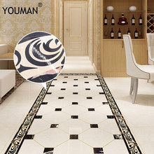 YOUMAN 10*200cm Greek Vintage Old Ornament Wall Sticker Waist Lines Self -Adhesive Wallpaper Border for Living room