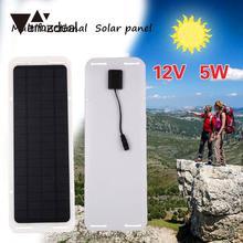 amzdeal 12V 5W Portable Smart Car Boat USB Charging Solar Panel Battery Chariger Outdoor Travelling Powerbank DIY Module Board