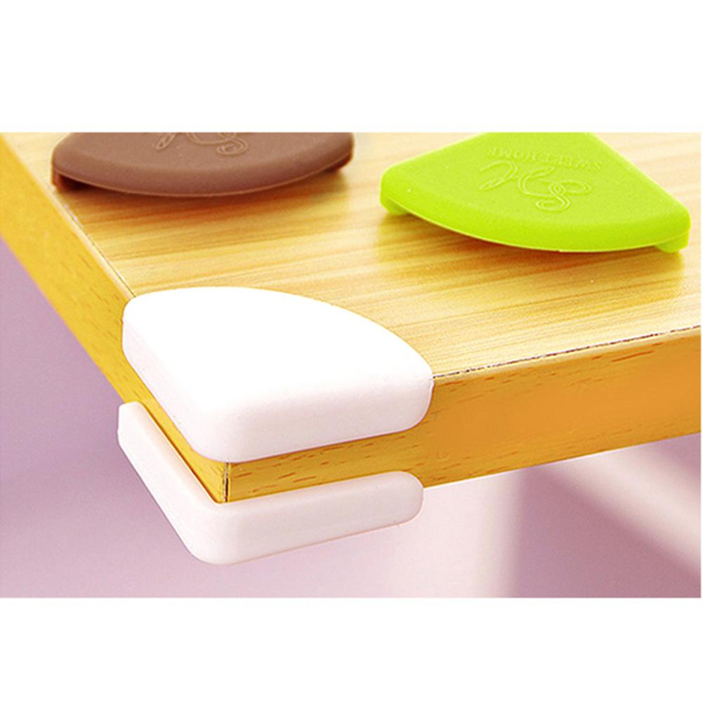 4pcs/lot Child Safety Corner Thickened Table Desk Guard Mat Baby Safe Crash Protection Cover Edge Guards Pads Kitchen Placemat