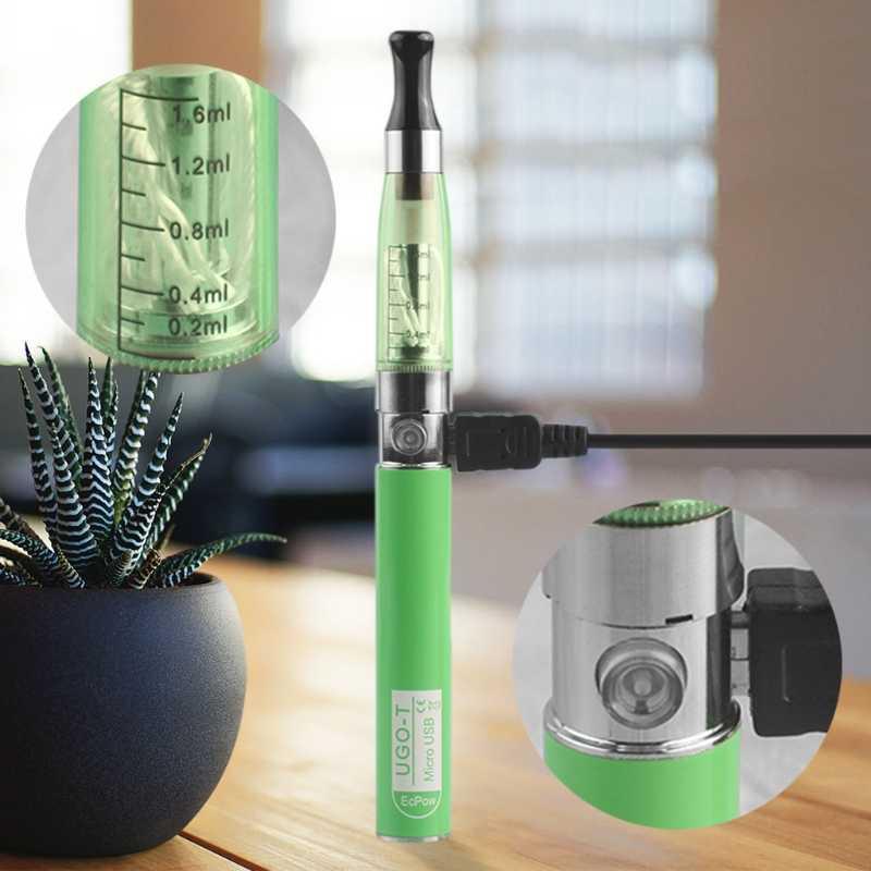 Для Ego-T CE4 комплект 650 мА/ч, Батарея боковые клапаны для подключения USB зарядка электронная сигарета распылитель