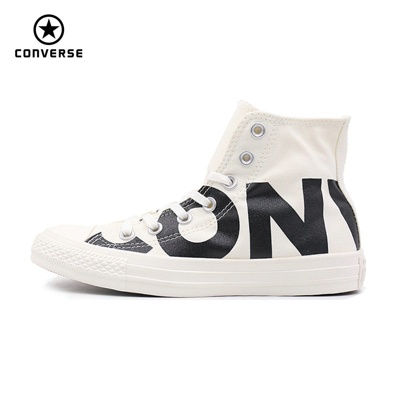 Converse 2018 new spring and autumn Big letters sneakers man and women Unisex  red white color Skateboarding Shoes 159533C