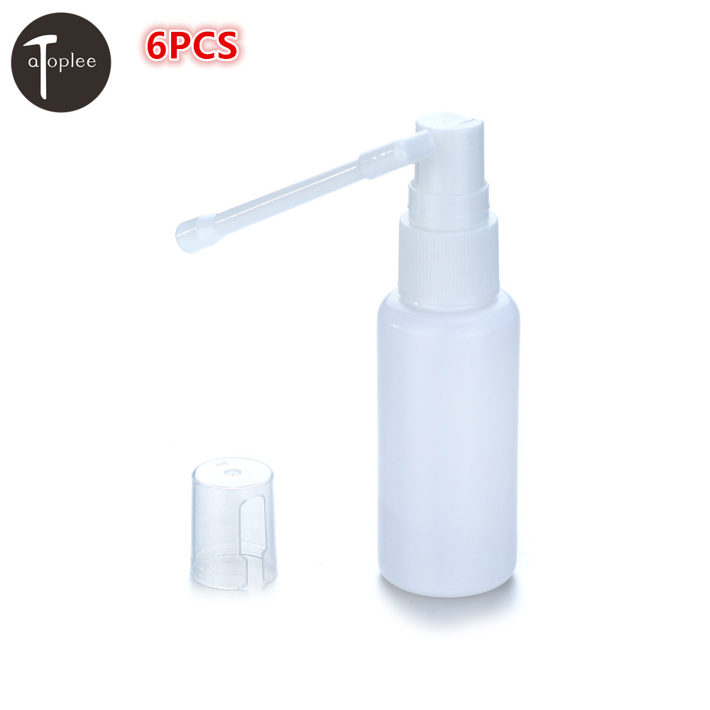 US $2 91 31% OFF|Universal 6PCS 30ml Plastic Nasal Throat Fine Mist Spray  Bottle Pump Sprayer 360 Degrees Rotating Bar Nozzle Bottle-in Tool Parts