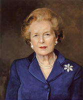 special offer-TOP oil painting-Britain Prime Minister MRS. THATCHER PORTRAIT ART -100% hand painted WORK----free shipping cost