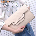 New 2017 Women Brief Handbag Designer Brand Shoulder Bag Japanned Leather Messenger Bag Pattern Envelope Day Clutch B442