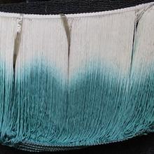 Кружево с бахромой и кисточками для латиноамериканской бахромы, 5 ярдов, искусственный шелк, макраме, нижняя петля, отделка, голубой цвет, ис...
