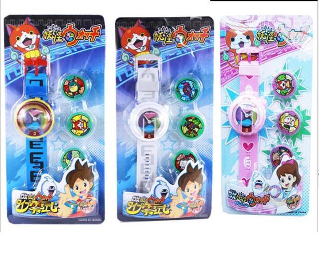Новый японский аниме Yokai Watch DX Йо-Кай наручные часы детские игрушки со светом и музыкой 3 медали Косплэй Рождественский подарок