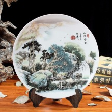 Jingdezhen ceramic Home Furnishing decorative porcelain plate hanging crafts modern European style decoration special