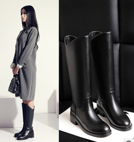 2014 High-end flat boots scooter women winter boots tie-in dress shoes  girl s leather boots 629674dff
