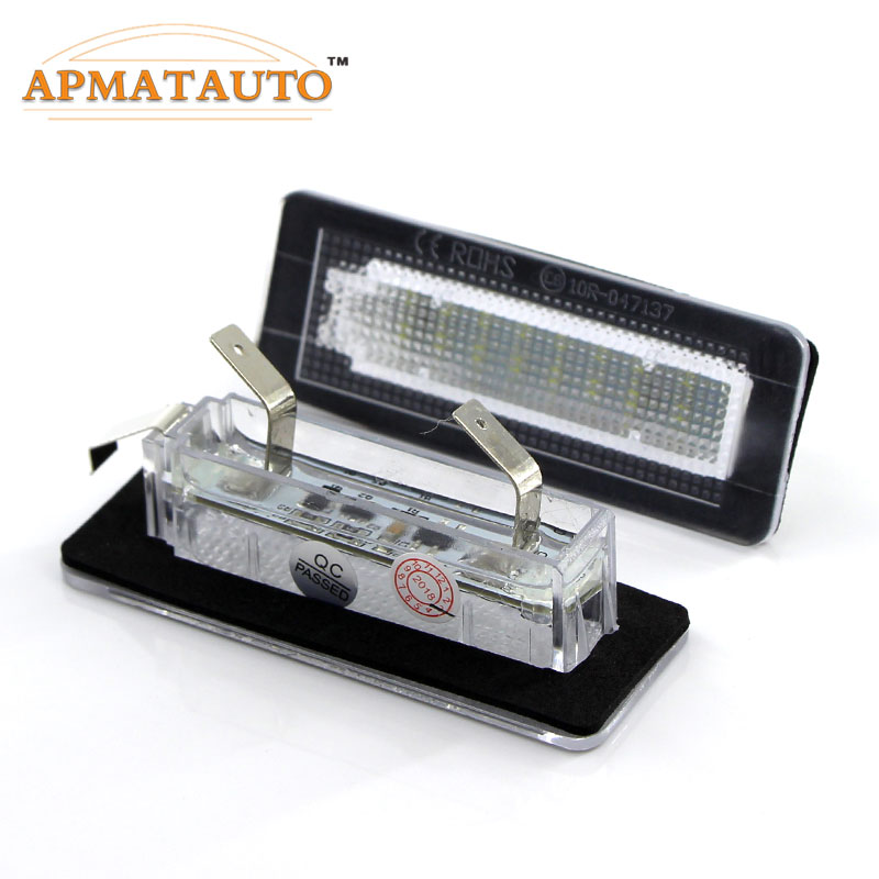 Smart Fortwo W450 W451 LED License Number Plate Lights Lamps Modul SMD