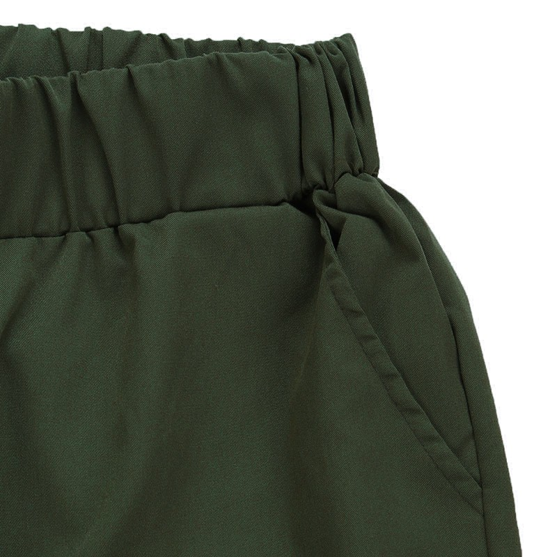 JUJULAND Fashion Harem Pants 2018 Women Trousers Casual Loose Pockets Elastic Waist Pant Leisure Army Green Pants Plus Size S-XL