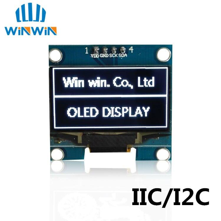"""1 шт. 1,3 """"O светодиодный модуль белый/синий цвет 128X64 1,3 дюймов O светодиодный ЖК-дисплей светодиодный дисплей модуль 1,3 """"IIC I2C общаться"""