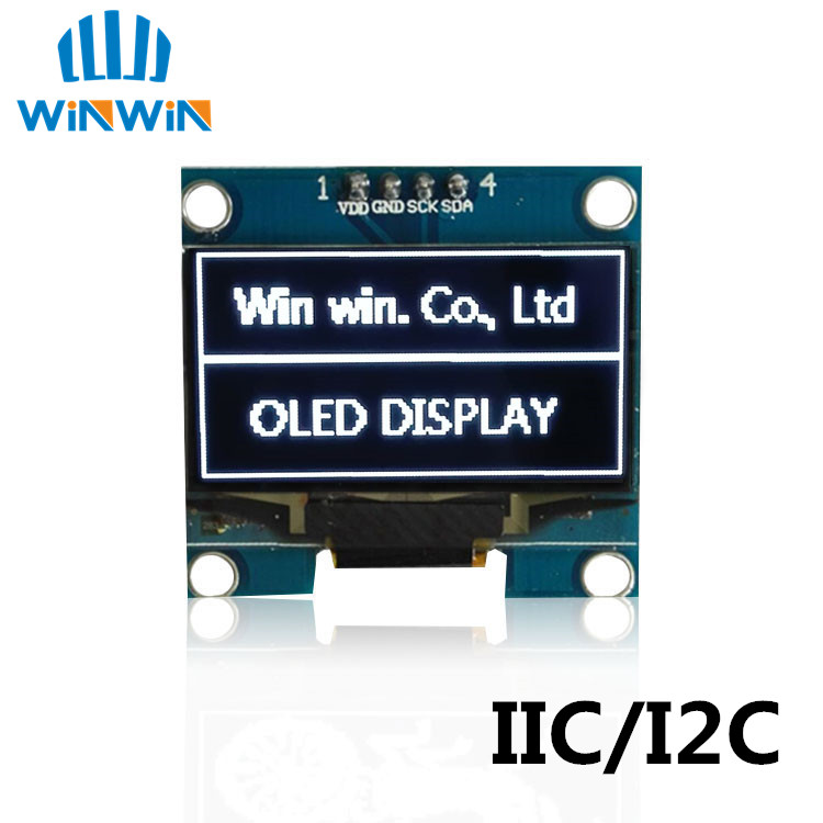 1PCS 13 OLED module whiteblue color 128X64 13 inch OLED LCD LED Display Module 13 IIC I2C Communicate