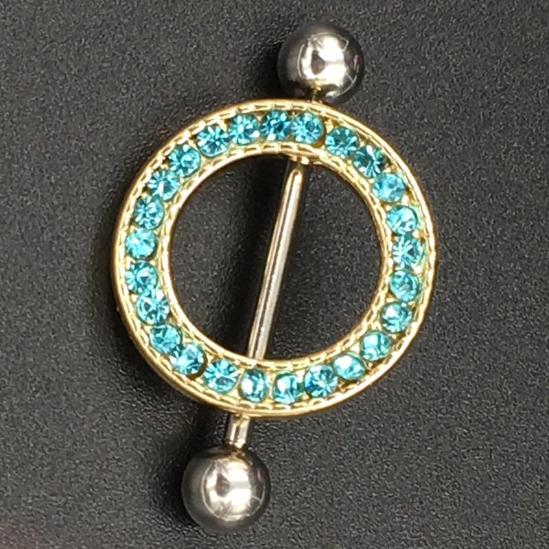 2pcs/lot Fresh Summer Sunflower Nipple Piercing, 14G 1.6*20mm Sexy Bar Rings Jewelry Creative Punk Body Jewellery Women Men Gift ...