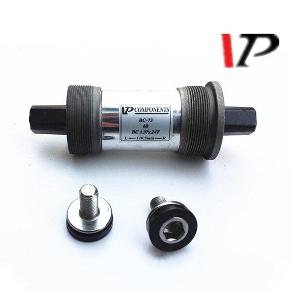 Litepro VP Components BC-73 English Cassette Bike BB Bottom Bracket Set Square Hole Bearing 68 X 103/107/110.5/113/118mm