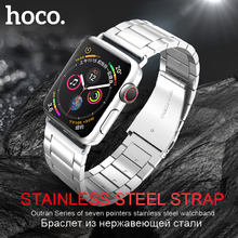 HOCO Stainless Steel Strap for Apple Watch 5 Band 40mm 44mm Metal Links Bracelet Smart iWatch Series 4 3 2 1