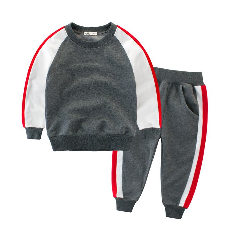 Kids Sports Suit For Boys Tracksuit 2 3 4 6 8 10 Years Cotton Long Sleeve Boy Sweatsuit Autumn Children Clothing Set iyeal fashion baby boys clothes set cotton long sleeve tops vest pants 3 pieces suit for kids boy children clothing 1 4 years