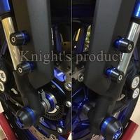 Para yamaha MT-01 MT-03 MT-07 MT-09 FZ-09 FJ-09 mt09 tracer fjr1300 motocicleta frente fender fork protector quadro slider parafuso 6mm